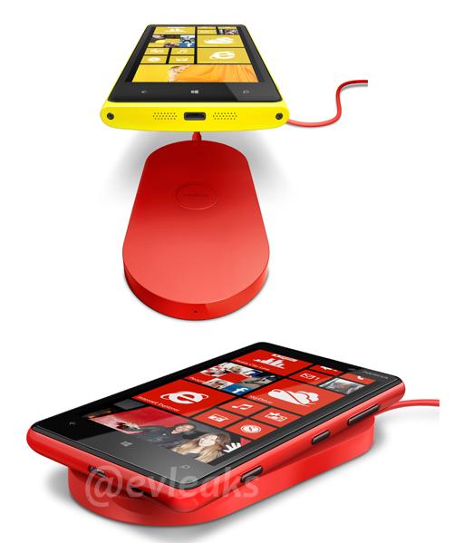 Nokia Lumia 920 ja langattoman latauksen mahdollistava latauspad.
